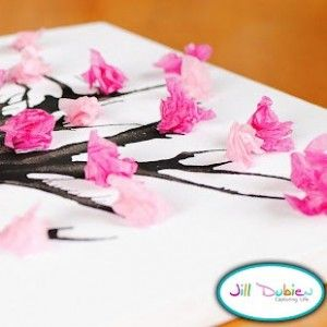 Tissue Paper Flower trees:) One of my favs