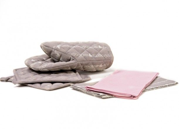 Unelma tekstiilisarja: Patakinnas, -lappu ja keittiöpyyhkeet