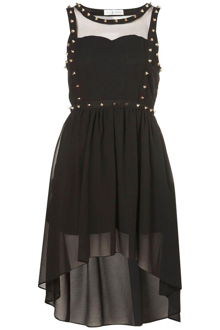 pastel goth clothing | CHIFFON STUD DRESS BY RARE