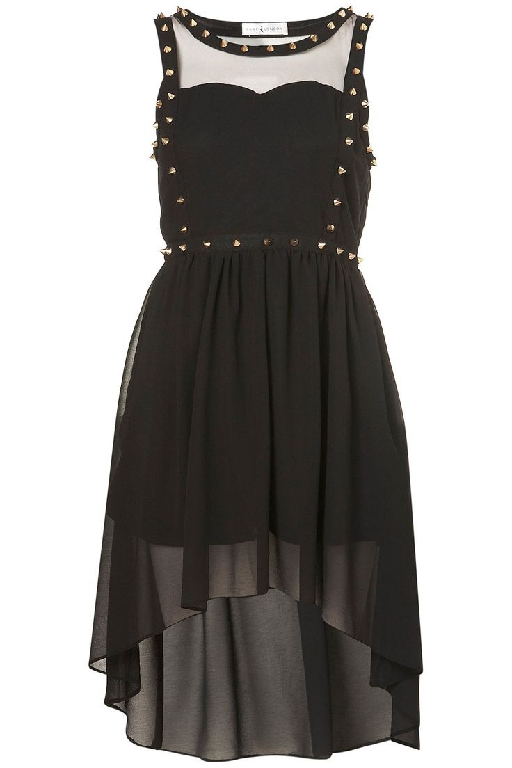 pastel goth clothing   CHIFFON STUD DRESS BY RARE