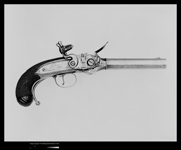Lord Nelson's Repeating Flintlock Pistol in Case with Accessories