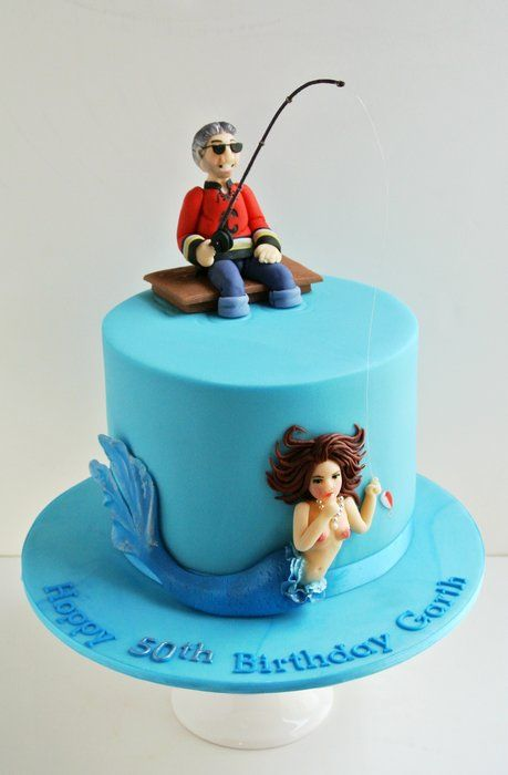 The Fisherman and the Mermaid - by Tea Party Cakes @ CakesDecor.com - cake decorating website