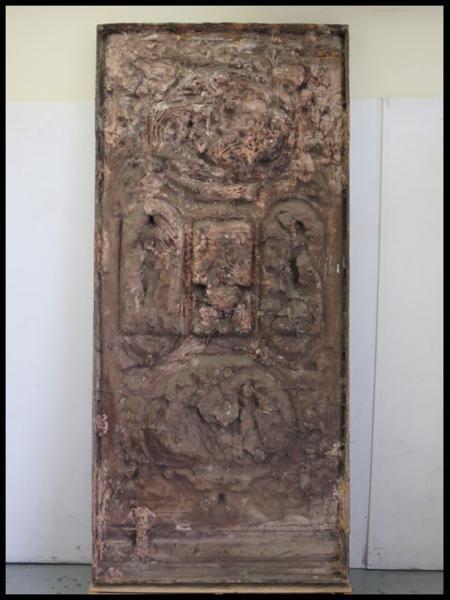 ◎希少!ブロンズ製 人物文装飾扉 彫刻 西洋美術 ローマ神話_画像3