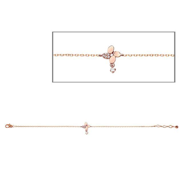 14K GOLD JEWELRY BRACELET (58.5% GOLD)  LPJ6560 BRACELET  Weight - 1.87 Gram  Cubic Zirconia - 1.1mm * 5EA. 1.9mm * 1EA  LA LUCE - PRIMARY JEWELRY  #14K #골드 #주얼리 #팔찌 #큐빅지르코니아 #골드 #화이트 #핑크골드 #14Kゴールド #ブレスレット # ゴールド #ホワイトゴールド #ピンクゴールド