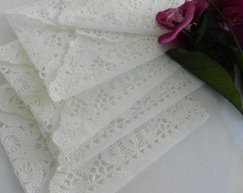 Macchia rustico Lace Doily buste tè di nozze di AllThingsAngelas