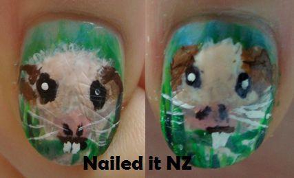 Nailed It NZ: Guinea pig nail art