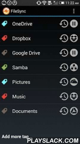 FileSync(Samba/Dropbox/Google)  Android App - playslack.com , File Sync can easily sync your data in the mobile devices (smart phone / tablet) to the cloud drives - Dropbox / Google Drive / Microsoft OneDrive & your home sharing computer (network neighborhood/Samba).★ truly two-way sync between mobile device & destination drives★ easy to create multiple sync profiles, just a few steps★ each sync profile can select multiple local folders in the mobile device★ can sync multiple profiles…