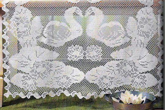 Fillet Crochet, Схема Вязания,