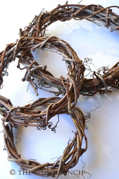 DIY Wreaths using twigs in your own backyard...beautiful.