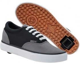 Mine look almost exactly like these. I love them SOOO much! Adult heelys Shoes with wheels that look line vans.  Size 43/44