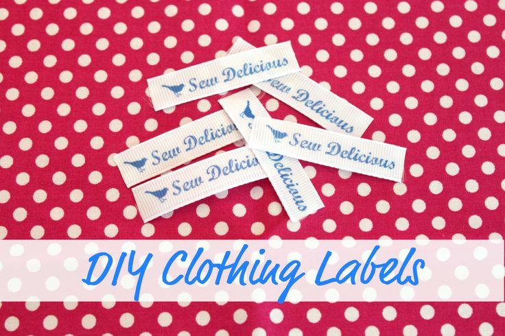 Sew Delicious: DIY Clothing Labels - Tutorial