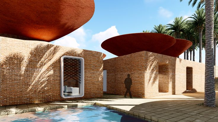 This Concave Roof System Collects Rainwater in Arid Climates,Courtesy of BMDesign Studios