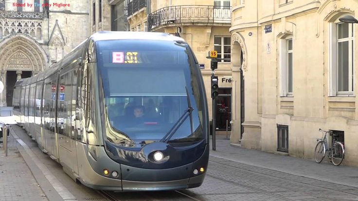Trams à Bordeaux, France 2016
