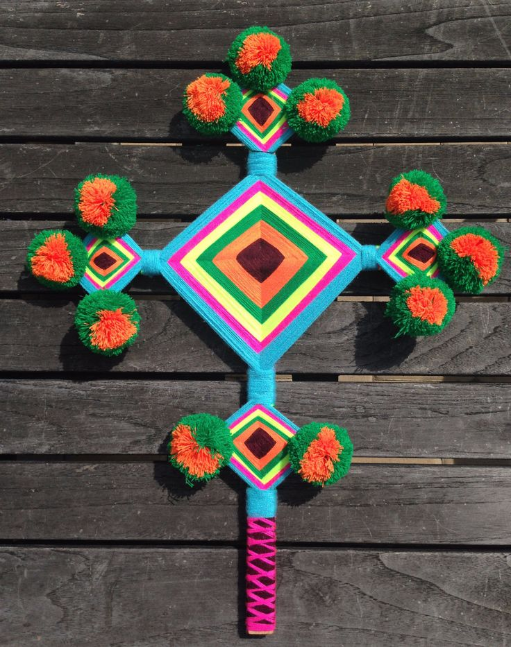 The Ojo de Dios or God's eye is a ritual tool, magical object, and cultural…