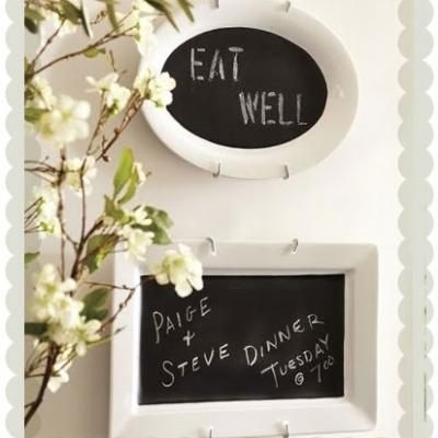 A Great Housewarming Or Wedding Gift This Chalkboard Platter Is Fun And Inexpensive Way Pottery Barn