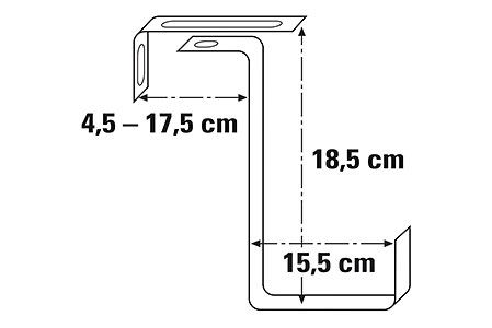 Supp. Balconière galvanisé 14.5 cm 2 pc.