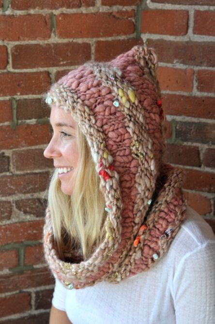 The Hoodie Cowl ~ the most perfect winter chill buster!   Knit Collage
