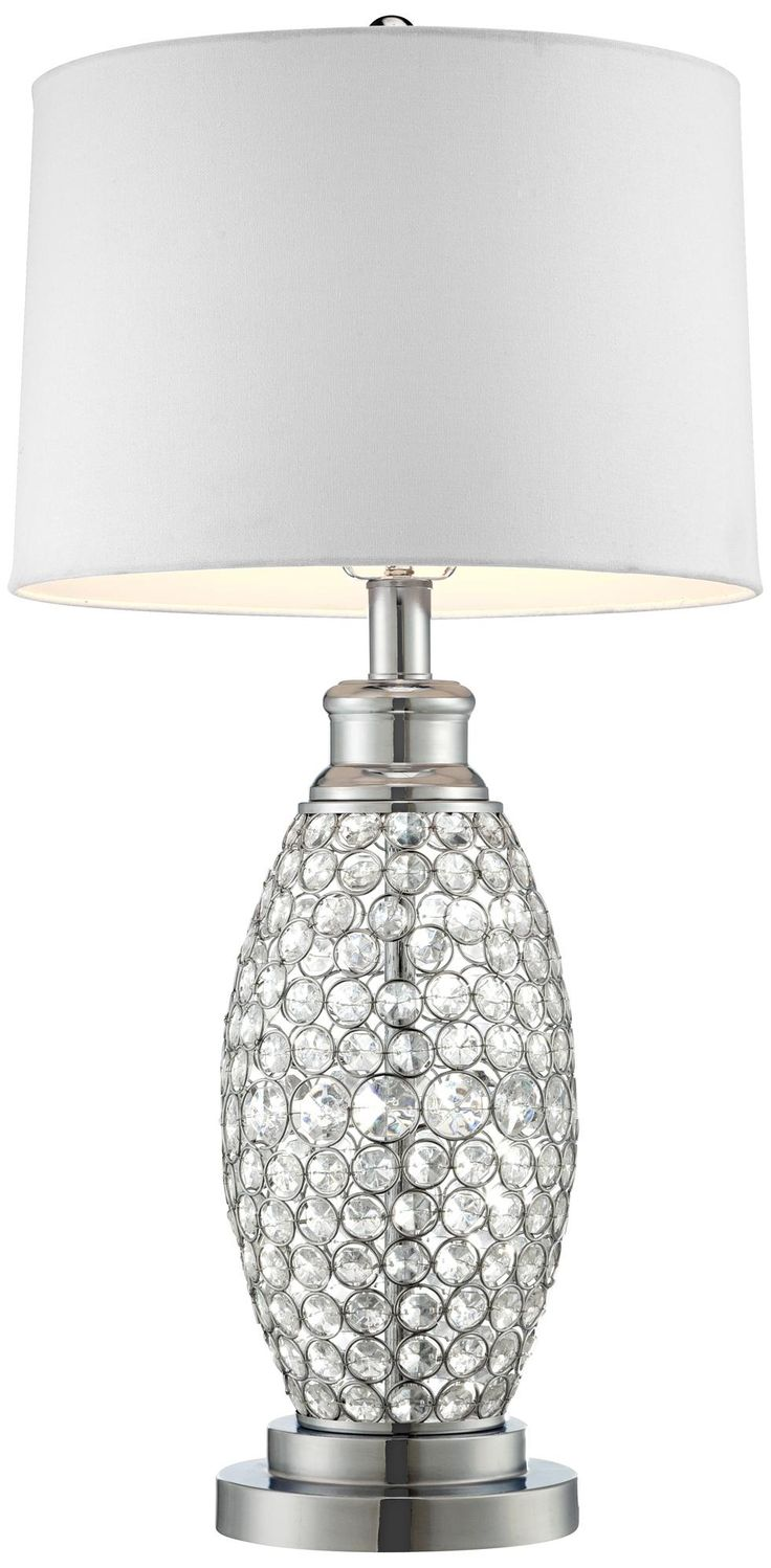 Possini Euro Design Beaded Table Lamp With White Shade Ideas