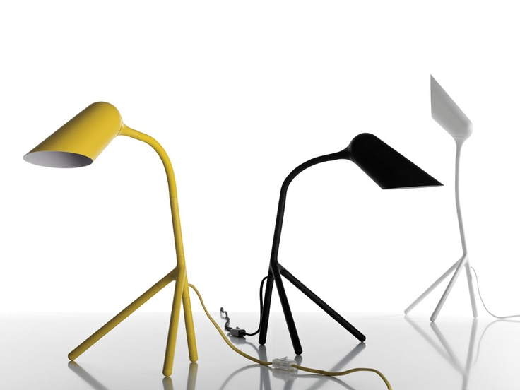 Curious table lamps designed by henrik pedersen also available in a floor lamp model