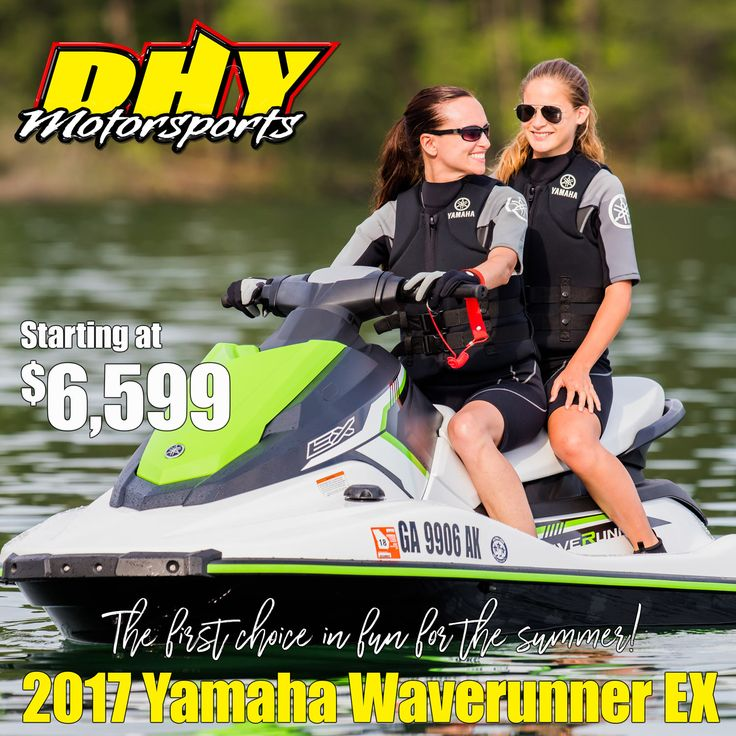 #Yamaha #Waverunners are the #FirstChoiceInFun. With the new EX series starting at $6,599, what are you waiting for? #DHYMotorsports