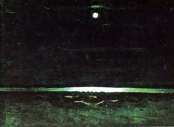 Картина с луной в русском музее понял, отчего