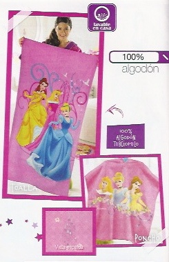 Toalla y poncho princesas JI