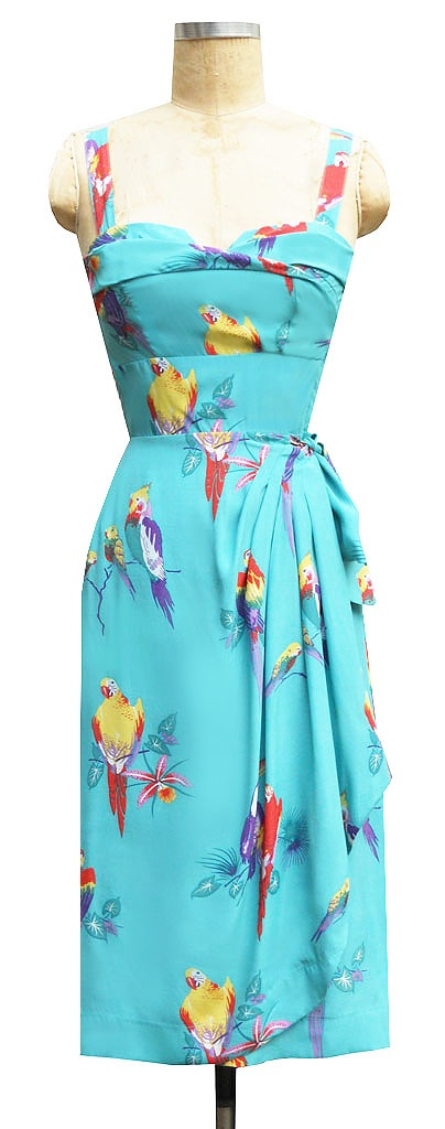 The parrots are full-on, but I could almost see myself in this, it's just so cute!