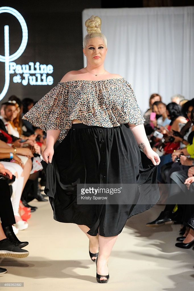 A model walks the runway for Pauline et Julie during the Third Pulp Fashion Week at Salon Hoche on April 11, 2015 in Paris, France.
