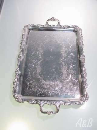 20'' Rectangular Silver Tray