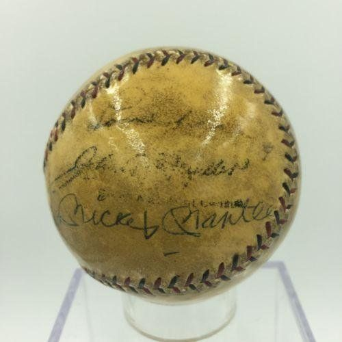 RARE Babe Ruth Lou Gehrig Joe Dimaggio Mickey Mantle Signed Baseball COA - JSA Certified - Autographed Baseballs -- Check this awesome product by going to the link at the image.