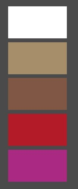 kleuren woonkamer; taupe, wit bruin, rood, hardroze