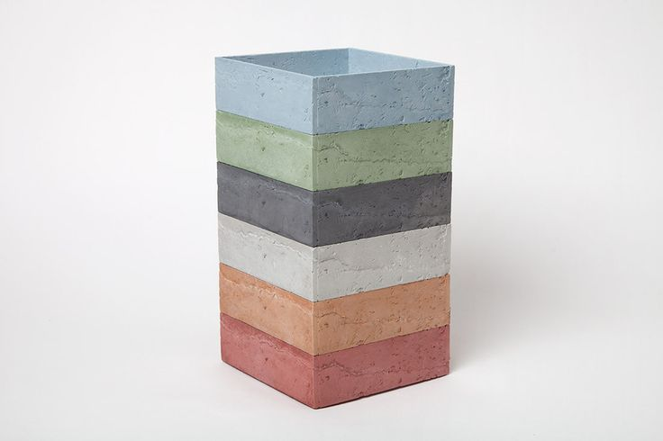 Cement cast wood texture inspired storage set - Square #Stack #Box I Chen Chen + Kai Williams – CRITERIA collection
