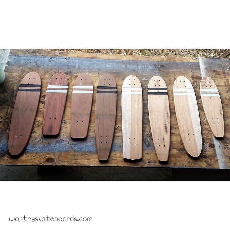 This crew were all half finished before a relaxing break for Easter. Looking to getting back into the workshop and finishing them off in a few days   A mix of beautiful eco-salvaged Maple silkwood and sustainably sourced Red gum Grey gum and Red ironbark  #handmade #handcrafted #ecofriendly #skateboard #reclaimedtimber #eco #sustainable #sustainability #environment #ecosalvaged #skateboarding #skate #longboard #longboarding #wood #timber #surf #retro #vintage #recycled Re-post by Hold With…