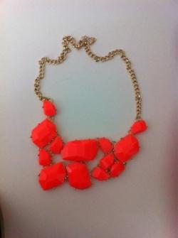 Neon Orange Necklace