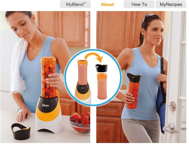 cool idea.Oster Myblend, Kitchen Gadgets, Fitness Drinks, Good Ideas, Gift Ideas, Protein Shakes, Blenders Bottle, Products, Sports Bottle