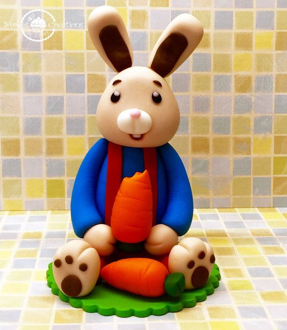 3D Edible Harry the Bunny inspired cake by SweetCreationByCarey
