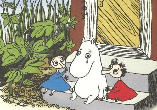 Retro Moomin Postcard - Sad Moomintroll