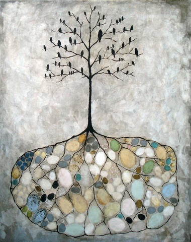Rebecca Rebouche. Bird Island - 2010 - mixed media on canvas.