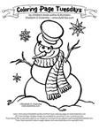 Free Printable Coloring Pictures Of Snowmen - Bing Images