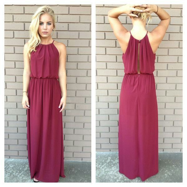 Maroon bridesmaid dress possibly