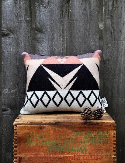 Rose Triangle White Pillow / Scott and Whistle