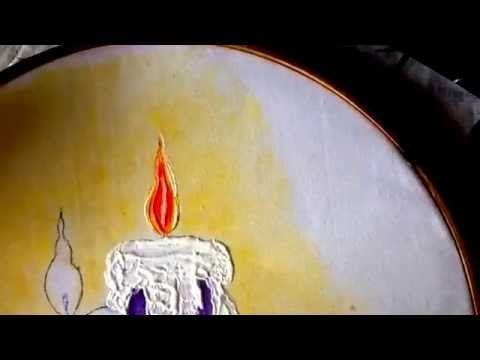PINTURA EN TELA vela de nochebuena cuatro con cony - YouTube                                                                                                                                                                                 Más