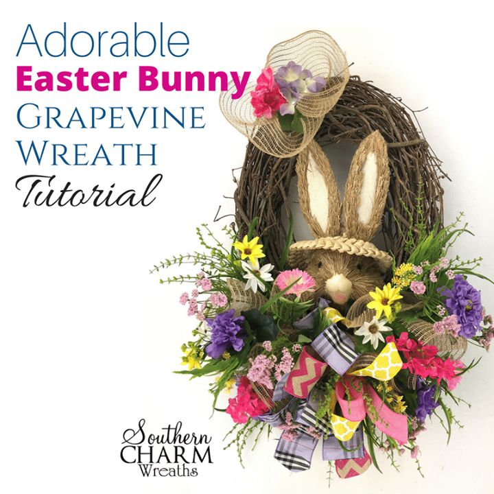 If you're looking for a wreath alternative for Easter, look no further. This designer Easter Teardrop Swag tutorial will give your door a designer look without the designer price tag! Julie shows you how to use a Christmas evergreen swag to make a spring door swag.