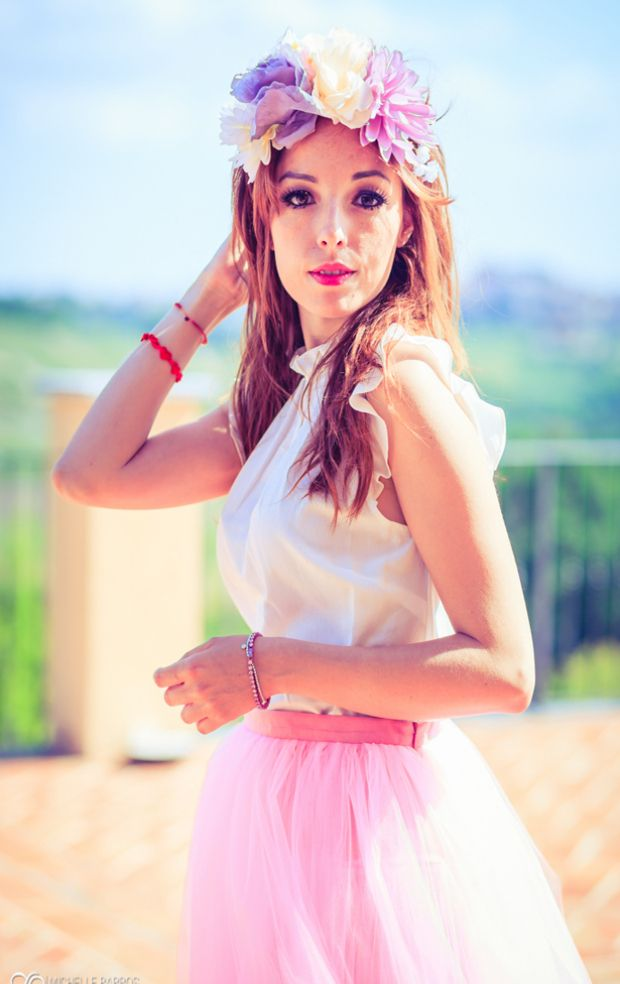 #baloon #pink #tulleskirt #princess #outfit www.welovefashion.it #flower crown