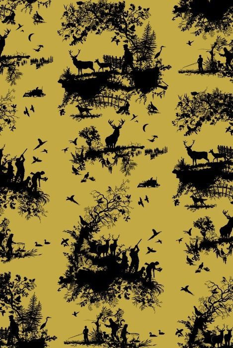 Timorous Beasties Wallcoverings - Hunting Toile . . . a must for the Period home with a contemporary perspective . . .