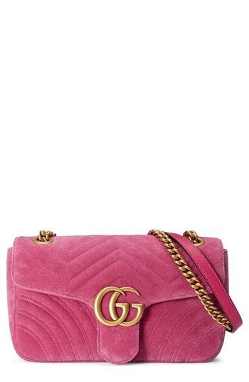 d4a68012234a76 Gucci Medium GG Marmont 2.0 Matelassé Velvet Shoulder Bag in 2019 ...