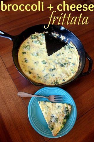 Broccoli + Cheese Frittata: Make ahead & reheat for a heathy grab 'n ...