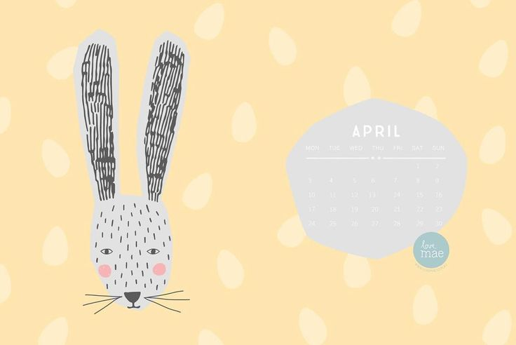 It's the first of the month means you can download a free desktop calendar from our blog! #lovemaestudio #freebies #april