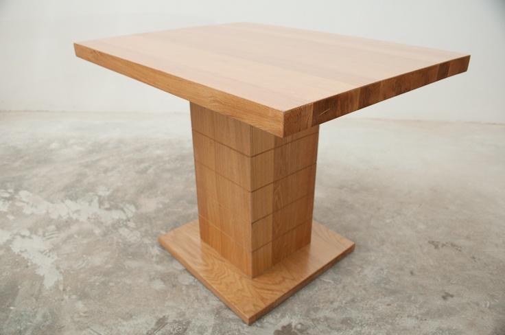 Natural oak small bar table