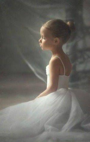 Russian child model Ksusha Tikhonova.